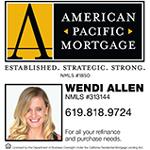 Wendi Allen American Pacific Mortgage